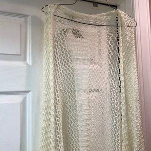 Ivory Crochet Kimono